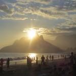 Coucher de soleil à Ipanéma Rio de Janeiro