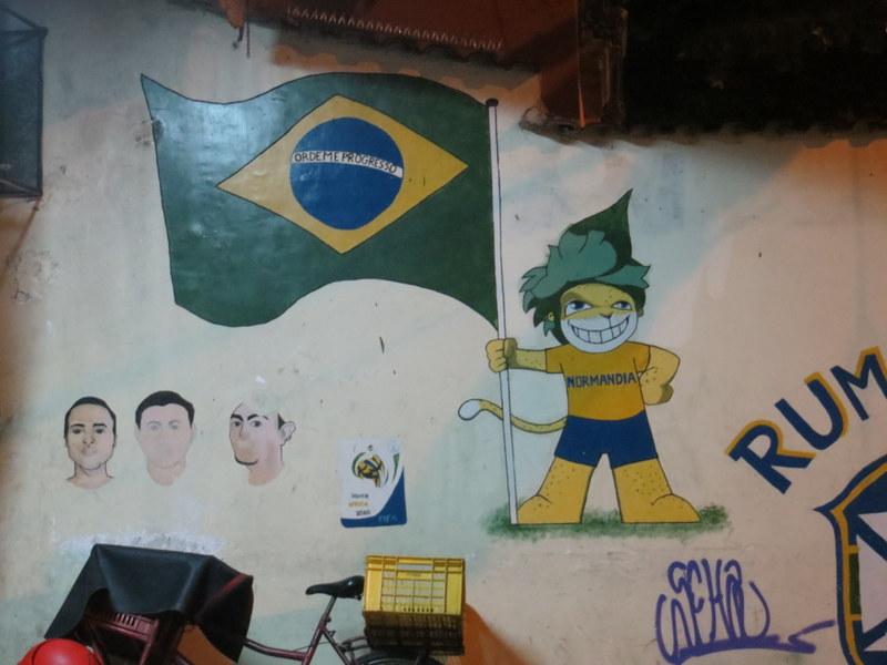 Drapeau Brésil et Normandie