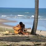 Guitare sur la plage - Bahia Brésil